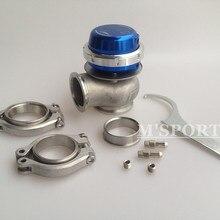 Wastegate 40 мм 14psi внешний Wastegate Turbo Синий Регулируемый давления с зажимом