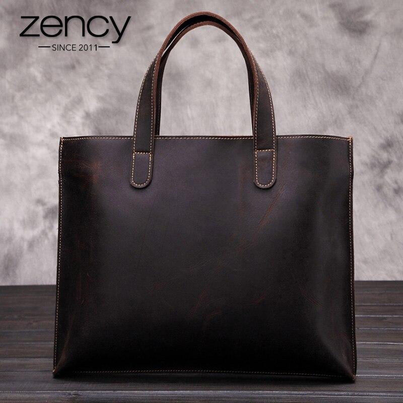 W stylu Vintage prawdziwej skóry mężczyźni torba biznes skrzynki teczki Portfolio torebki ramię Messenger podróżne męskie torba na laptopa dla mężczyzn w Torby z uchwytem od Bagaże i torby na  Grupa 1