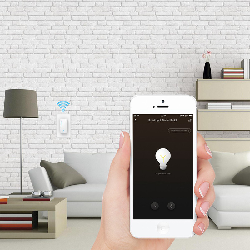 HATOSTEPED Smart Light Switch Wifi Intelligent Switch With Timer American Regulation Works With Alexa Google Home 120VAC 50/60Hz