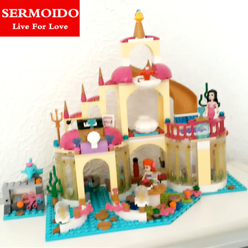 SERMOIDO 10436 JG306 Friends Ariel's Undersea Palace Building Bricks Blocks Toys Girl Game House Gift Compatible with Lepin 10162 friends city park cafe building blocks bricks toys girl game toys for children house gift compatible with lego gift