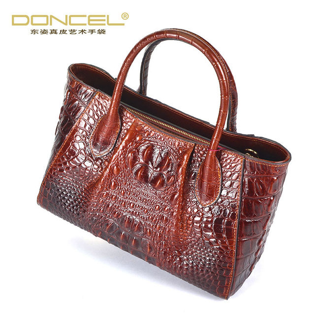 Designer handbags high quality cow genuine leather bags for women top-handle alligator vintage casual tote bags free shipping