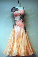 GOODANPAR Ballroom Dance Competition Dresses Sleeveless Sexy Stone Ballroom Dress Standard Stage Dance Wear Waltz Flamenco Tango