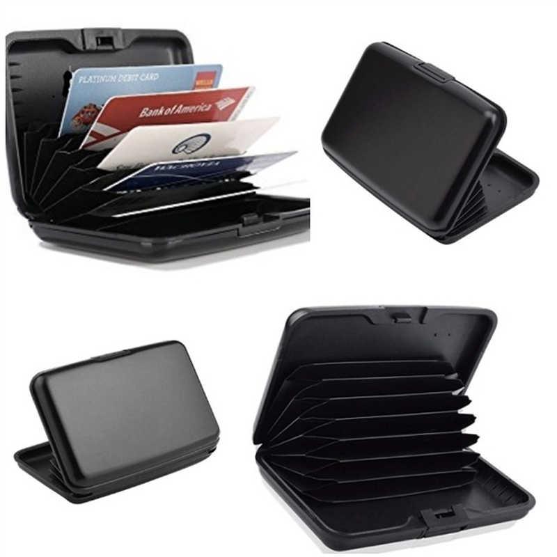 1 PC mujeres hombres tarjetero aluminio tarjeta de crédito funda tarjetas creativas protección Mini billetera para billetes