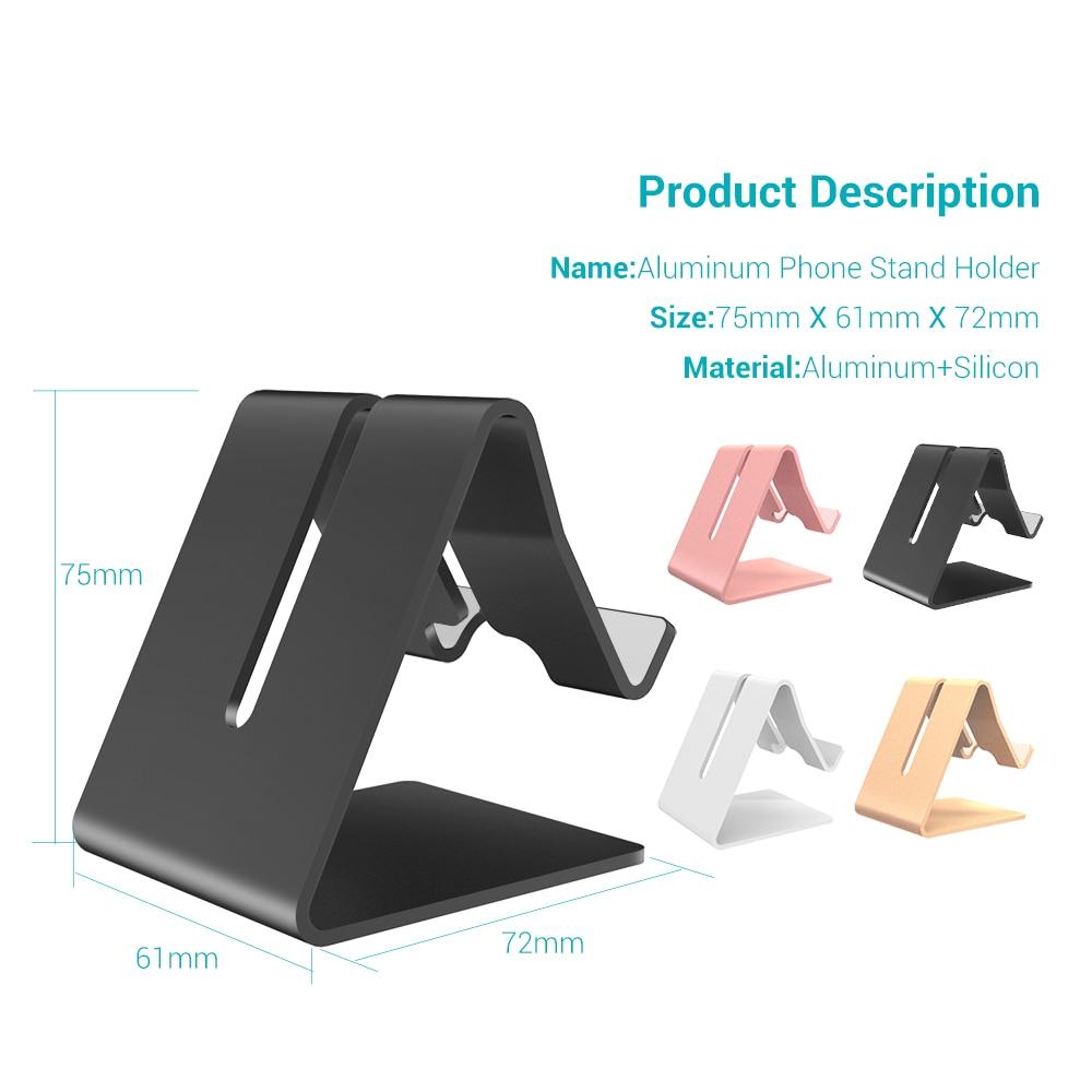 KISSCASE Aluminium metallstativhållare för iPhone XS Max XR XS X 8 - Reservdelar och tillbehör för mobiltelefoner - Foto 5