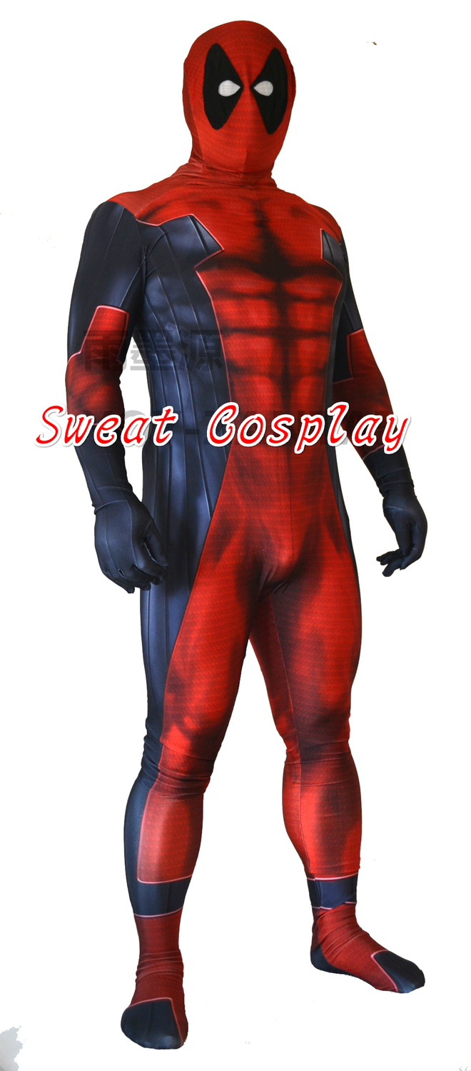 Aliexpress.com : Buy Deadpool Costume 3D Printing Red And Black ...
