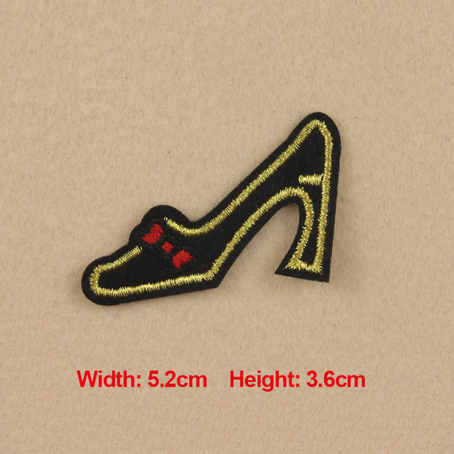 1PC Patches For Clothing Embroidery Cartoon Lady Shoes Patches For Apparel  Bags Hat Cap DIY Accessories