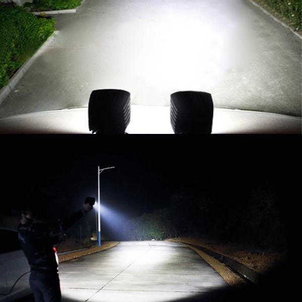 25W kvadrat LED işığı 12V 24V ləkəli sel çırağı sarı 3000k - Avtomobil işıqları - Fotoqrafiya 5