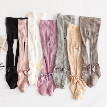 Infant Baby Girl Stockings Newborn Knitted Cotton Warm Lovely Bow Children Pantyhose