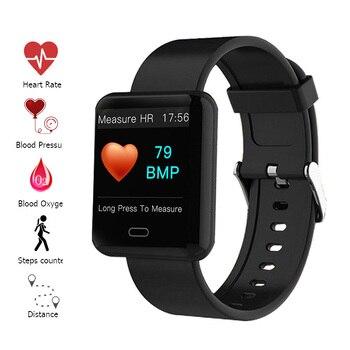 Pulseira inteligente Pulseira Inteligente da Frequência Cardíaca pressão Arterial Monitor de Sono Rastreador De Fitness Banda Inteligente Display Colorido Pulseira Esporte
