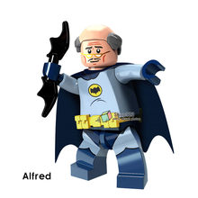 Building Blocks Single Sale Bat Alfred Batman Killer Moth Apache Chief Super Heroes Bricks Collection Toys for children PG419(China)