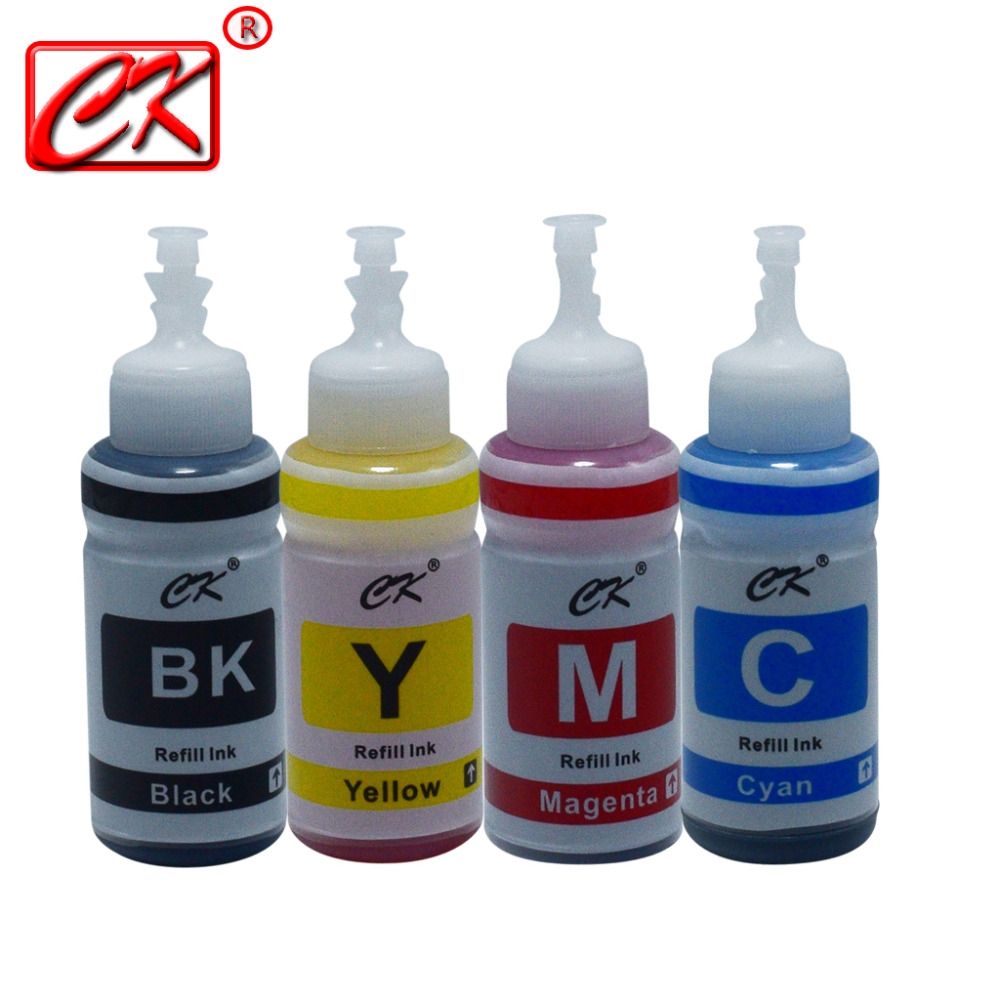 4colors *70ml Bottle Refill Ink Kit Compatible Ink for Printer Epson L100 L110 L132 L200 L210 L222 L300 L362 L366 L550 L555 L5664colors *70ml Bottle Refill Ink Kit Compatible Ink for Printer Epson L100 L110 L132 L200 L210 L222 L300 L362 L366 L550 L555 L566
