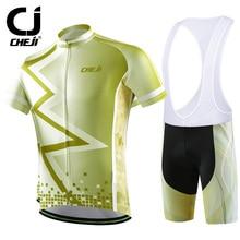 Cheji Brand 2016 Pioneer Gold Cycling Jerseys Short Sleeves Set Bike Clothing