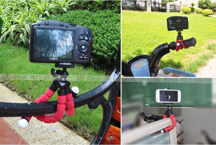 Штатив для телефона гибкий губчатый Осьминог Мини штатив для IPhone Мини камера штатив держатель телефона клип стенд