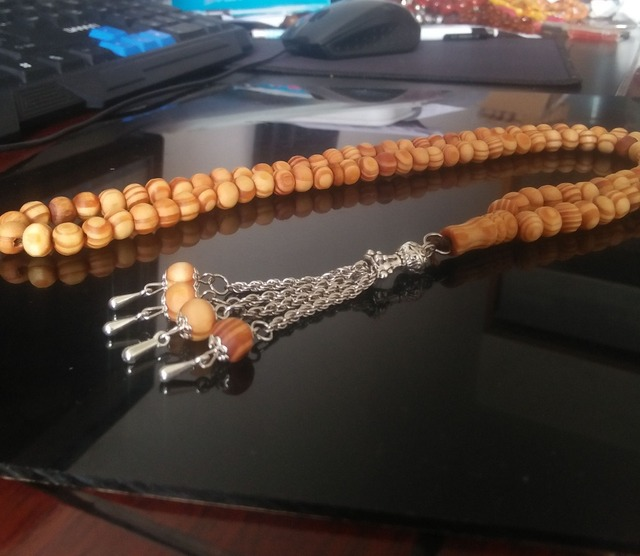 Islamic natural 100% wood 99 prayer beads tasbih misbaha tasbeeh sibha masbaha tespih muslim hajj gift