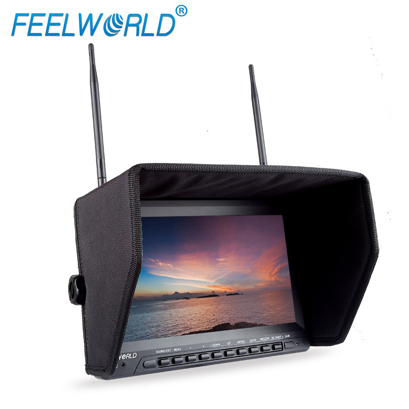Feelworld PVR1032 10.1 Inch IPS HD FPV Monitor with DVR Built-in Battery Dual 5.8G 40CH Diversity Receiver 10.1 Drone Monitor