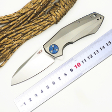 BMT ZT 0456 Folding Knife D2 Blade Titanium Handle Ball Bearing Flipper Tactical Hunting Knives Outdoor Survival Camping Tools