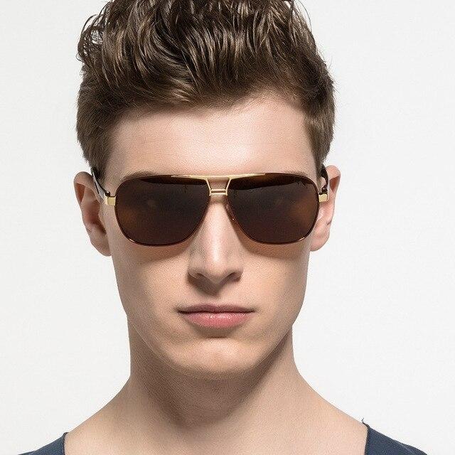 Gafas de sol polarizadas para hombre con marco de aleación de aluminio UV400 gafas de sol clásicas para hombre gafas de sol de buena calidad para hombre 5