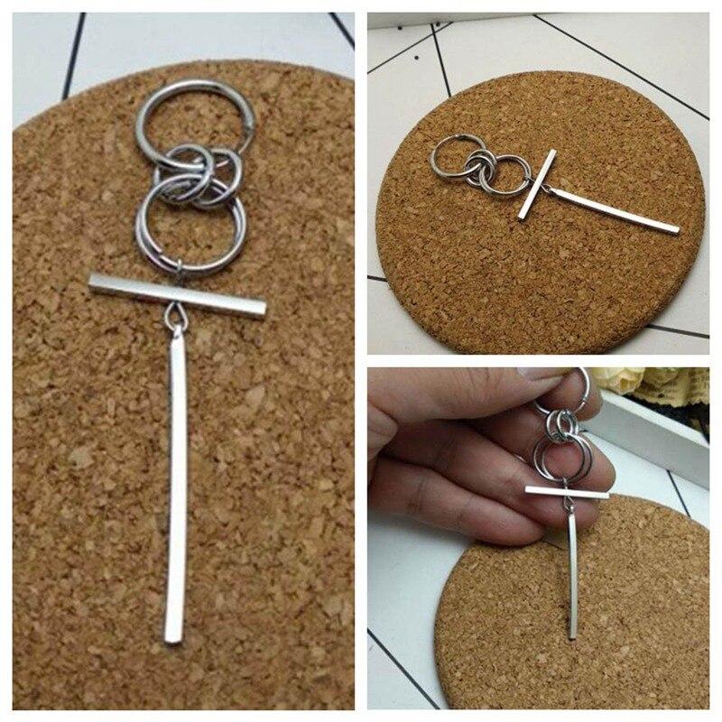 Modern Style Pop Jewelry Korean Style Album Silver Color Stud Earrings For Women Vintage Long Men Earrings Geometric Gifts