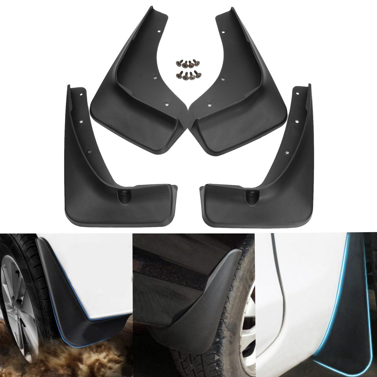 Car Rear Front Mud Flaps Fender Flares Splash Guards Mudguards for Mazda CX-5 CX5 2012 2013 2014 2015 2016 for ford explorer 2013 2018 plastic more fashion front rear mud guard mudguards splash flaps cover protector trim 4 piece