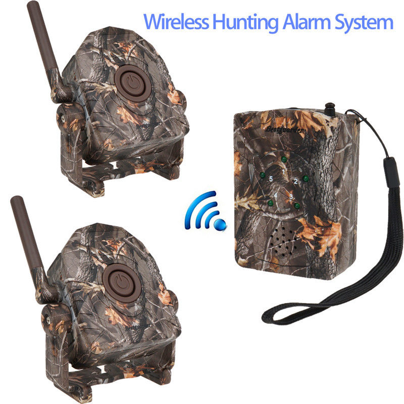 Bestguarder SY-007 360 degree Wireless Hunting Trail & Security Alarm Motion 1xDectect Receiver+2xDetectors For Hunter PIR bestguarder sy 007 360 degree wireless hunting trail