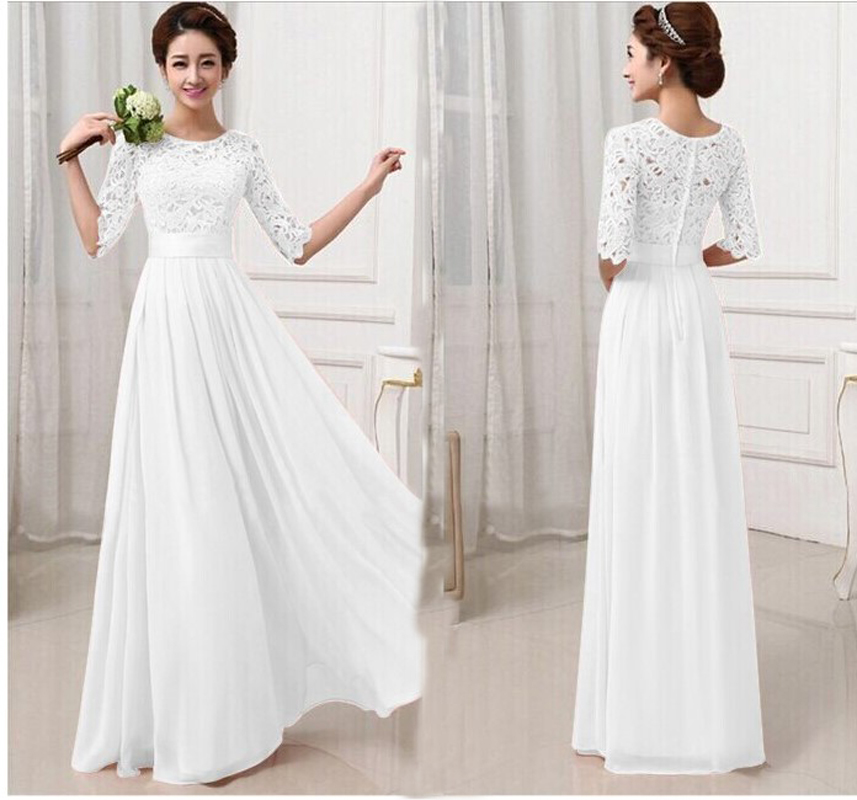 Popular Long White Beach Casual Dress-Buy Cheap Long White Beach ...