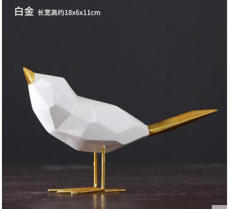 Un Animal or oiseau origami ornements ensemble moderne minimaliste salon armoire ameublement TV meuble bureau