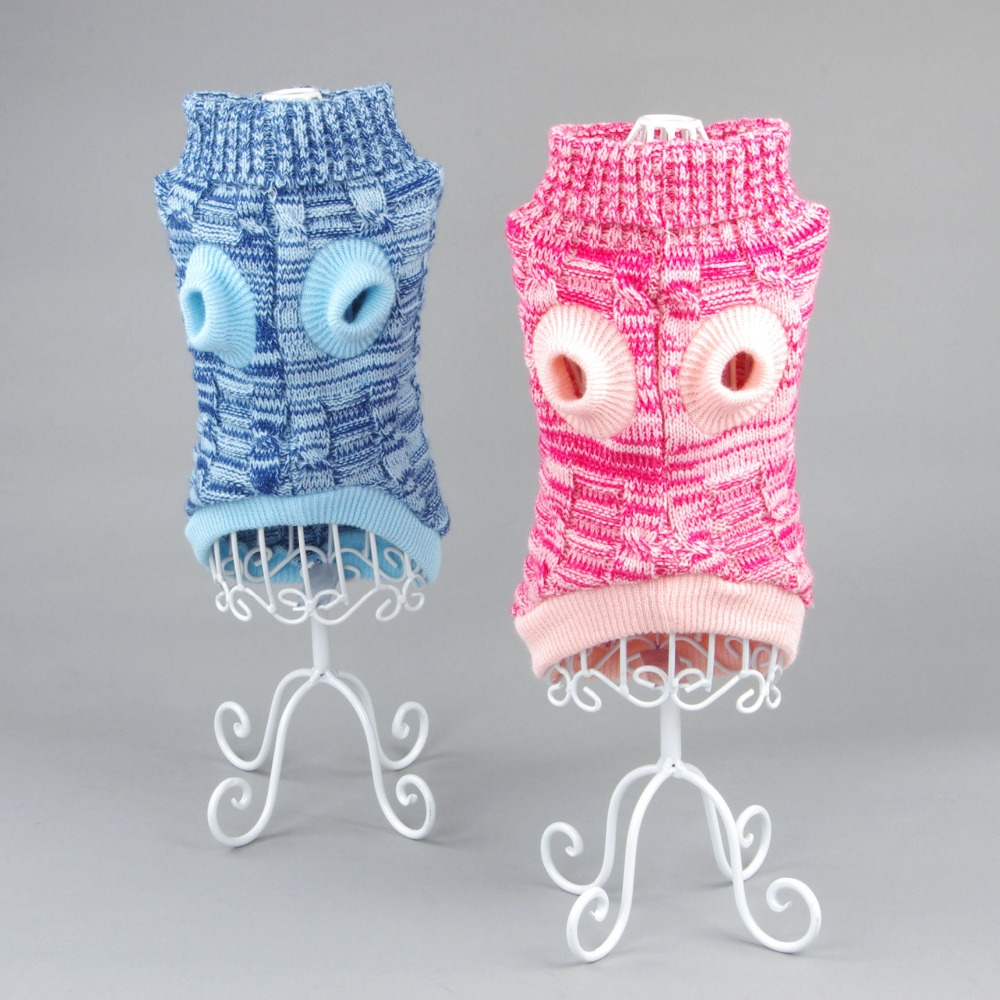 Winter warm Pet dog cat crochet knit Sweater sweatershirt Pullover clothing small dog dachshunds Chihuahua Coat jacket Cothes