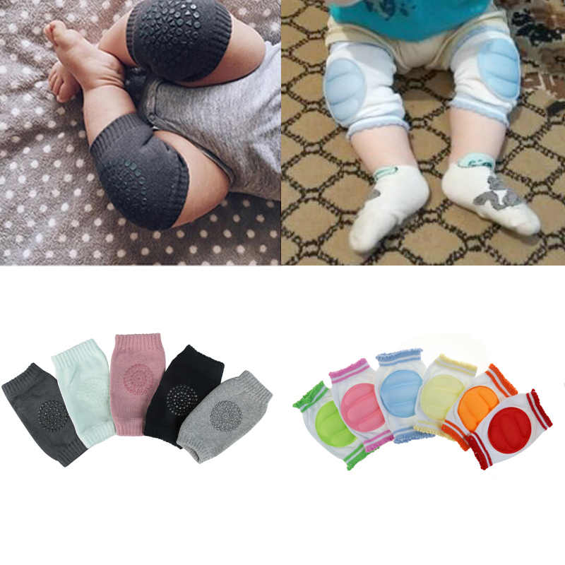 700b9b8019 1 Pair baby knee pad kids safety crawling elbow cushion infant toddlers baby  leg warmer knee