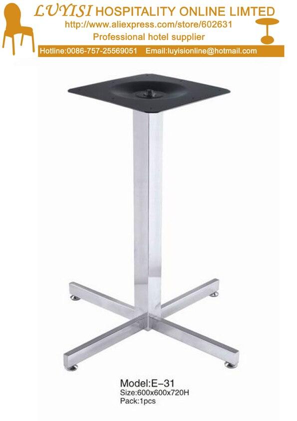 Kommerziellen Möbel Qualität Polishedstainless Edelstahl Esstisch Basis Das Ganze System StäRken Und StäRken