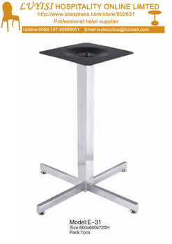 quality polishedStainless steel  dining table base