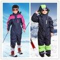 2016 Ребенок мужского Пола мода одна часть подтяжки утолщение лыжи белье лыжный костюм