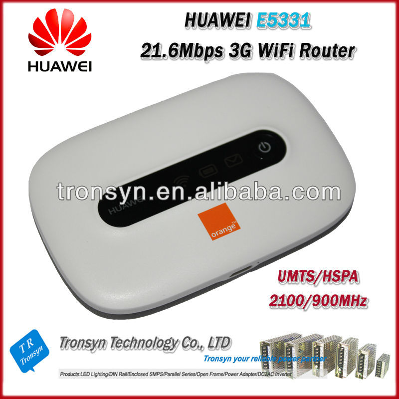 Free Shiping Original Unlock HSPA+ 21.6Mbps HUAWEI E5331 Portable 3G WiFi Router With Sim Card Slot original unlock dc hspa 42mbps huawei e5756 3g wireless router support hspa hspa umts