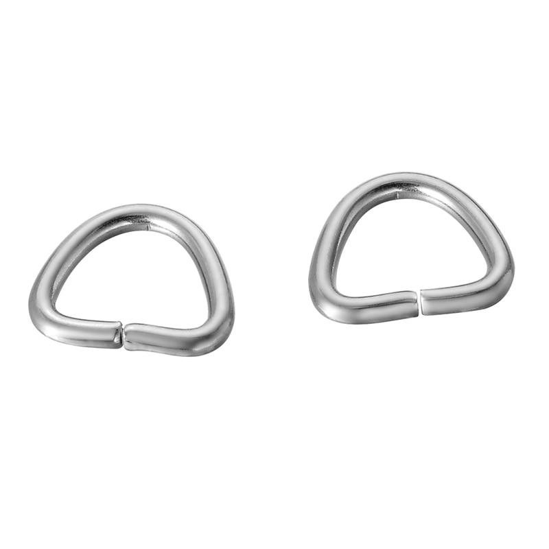 LASPERAL 30pcs/lot 11x9mm Geometric Jump Rings Single Loops Open Split Rings Jewelry Making DIY Jewelry Findings Components