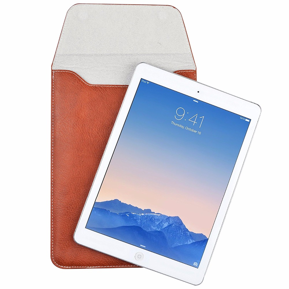 9.7 Universal PU Leather Sleeve Case For New iPad 2017 Air 2 Pro 9.7 Samsung TAB A6 Sleeve Bag tab3 Tablet Cover for iPad 2018