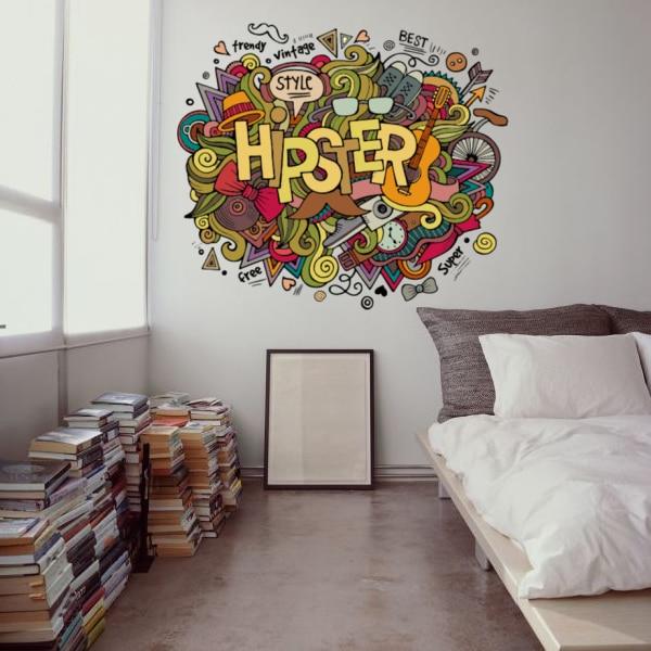 GroB Ich Liebe Hipster Illustration Mode Hochzeit Decor Vinyl Wasserdichte  Wandaufkleber Schlafzimmer Tapeten Wandtattoos Baby Zimmer Dekor