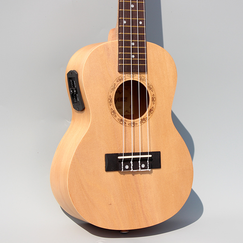 Concert Acoustic Electric Ukulele 23 Inch Guitar  4 Strings Ukelele Guitarra Handcraft Wood White Guitarist Basswood Plug-in soprano concert tenor ukulele 21 23 26 inch hawaiian mini guitar 4 strings ukelele guitarra handcraft wood mahogany musical uke