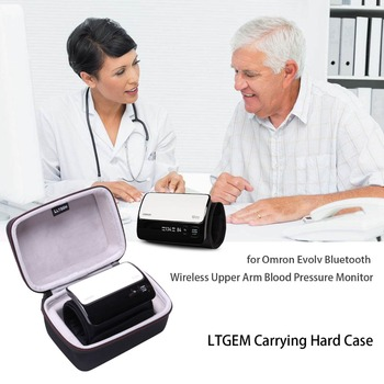 LTGEM EVA Hard Case for Omron Evolv Bluetooth Wireless Upper Arm Blood Pressure Monitor - Travel Protective Carrying Storage Bag - discount item  14% OFF Travel Bags