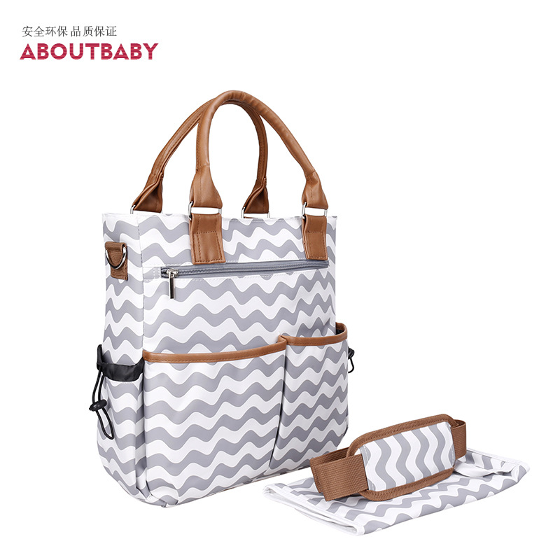 New Multifunctional Striped Maternity Mummy Nappy Bags Tote Messenger Bags Baby Stroller Bags Shoulder Han Baby