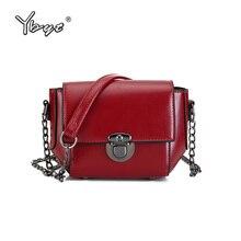 YBYT brand 2017 new vintage casual solid chains hasp mini flap hotsale ladies evening bag women shoulder messenger crossbody bag