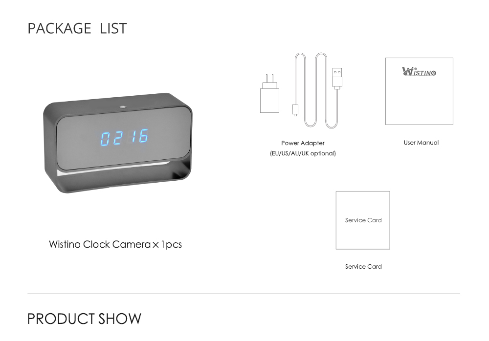 WIFI Mini Camera 1080P Time Alarm CCTV Home Security Clock Wireless Nanny IP Camera P2P IR light Night Vision Motion Detection (6)