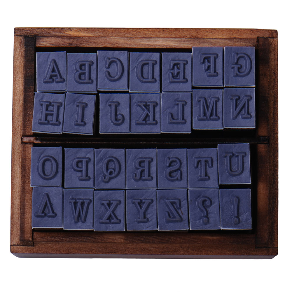 28pcs/Set DIY A-Z Letter Wooden Stamps Handmade Hobby Sets AlPhabet Stamps Wooden Box Personalized Motto Wax Stamps  wholesale hot sale 30pcs set letter wood stamp alphabet stamps wooden box personalized motto handmade hobby sets free shipping