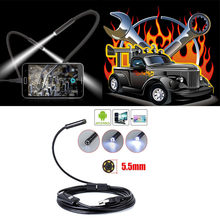 1m/2m/3.5m/5m 5.5mm Lens OTG USB Endoscope Camera Flexible Snake Pipe Inspection Android Phone USB Borescope Camera Car Repair(China)