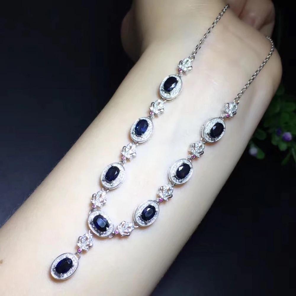2017 Collares Qi Xuan Dark Blue Stone подвеска Necklaces Real Dark Blue Necklaces Quality guaranted manufacturer прямая продажа