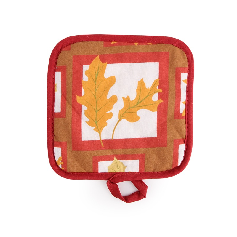 1pcs Leaf Painting Microwave Heat Resistant Oven mitts, top selected cotton, pot holder, table pad OM008
