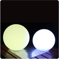 25CM Super Bright Color Change Wireless Cordless LED Decorative Ball Free Shipping