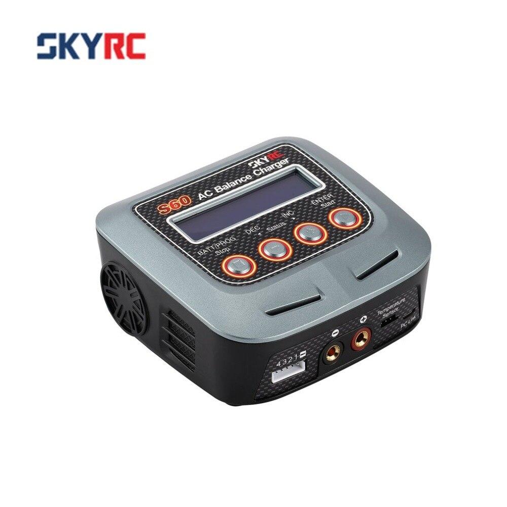 SKYRC S60 60 w 100-240 v AC Équilibre Chargeur/Déchargeur pour 2-4 s Au Lithium LiPo liHV Vie Lilon NiCd NiMh PB RC Drone Batterie De Voiture
