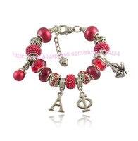 Alpha Phi Sorority Charms Bead Bracelet Greek Letters Custom Bracelet Jewelry