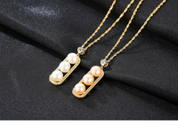 S925 Sterling Silver Necklace Women Fashion Natural Freshwater Pearl Pendant GSW11