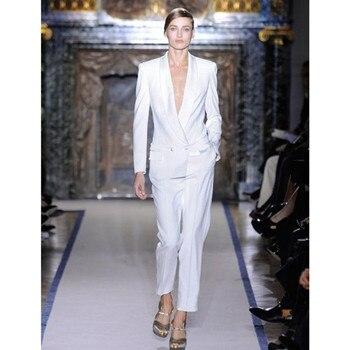 Custom fashion ladies suit ladies slim double-breasted suit two-piece suit (jacket + pants) women's business formal suit
