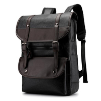 High Quality Men's Backpack Bags Man Casual Pu Leather Backpack Men Mochila Travel Backpack For Laptop Business Big Capacity